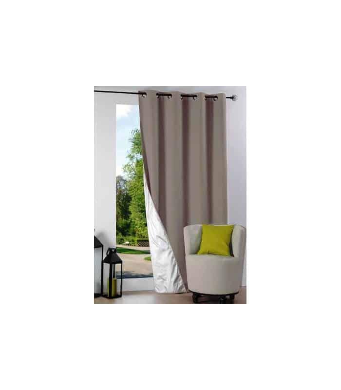 rideau occultant et isolant uni beige taupe anthracite rouge atelierdeladeco vente en. Black Bedroom Furniture Sets. Home Design Ideas