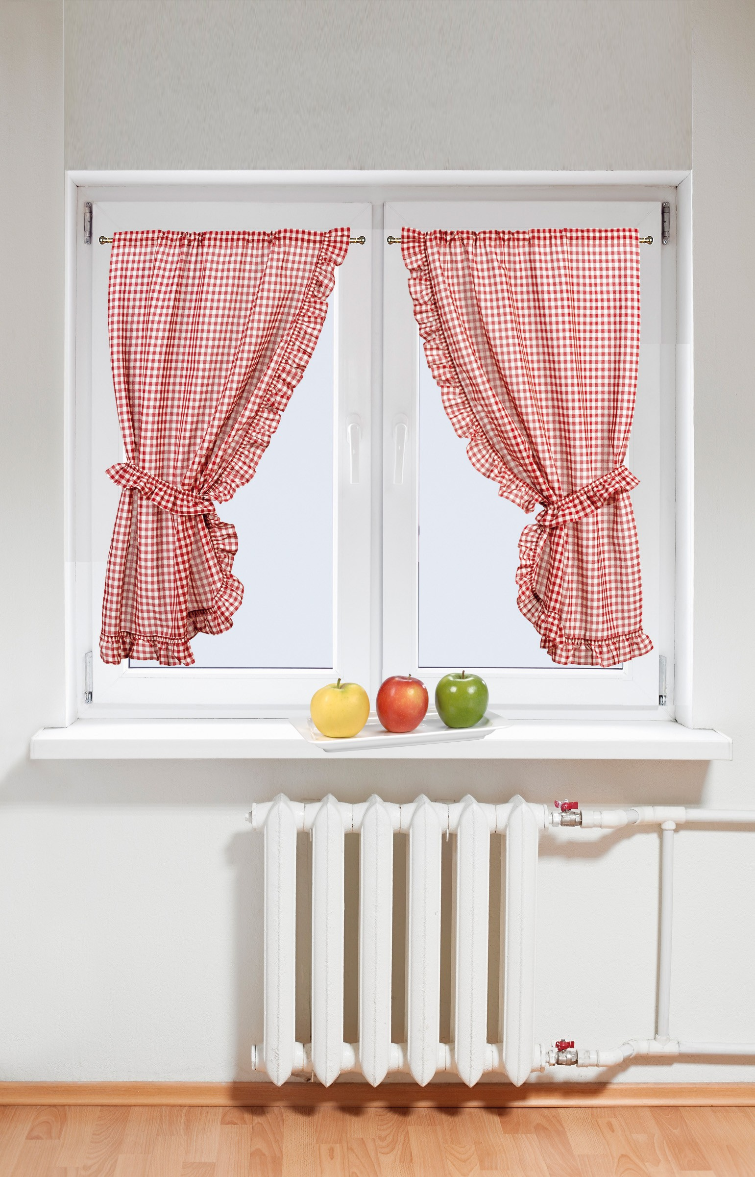 rideaux pour cuisine rouge retro window curtains rouge. Black Bedroom Furniture Sets. Home Design Ideas
