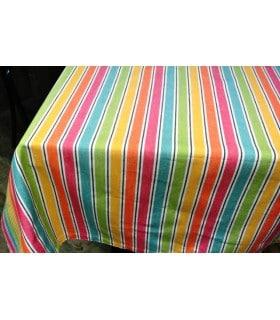 Nappe rayée multicolore