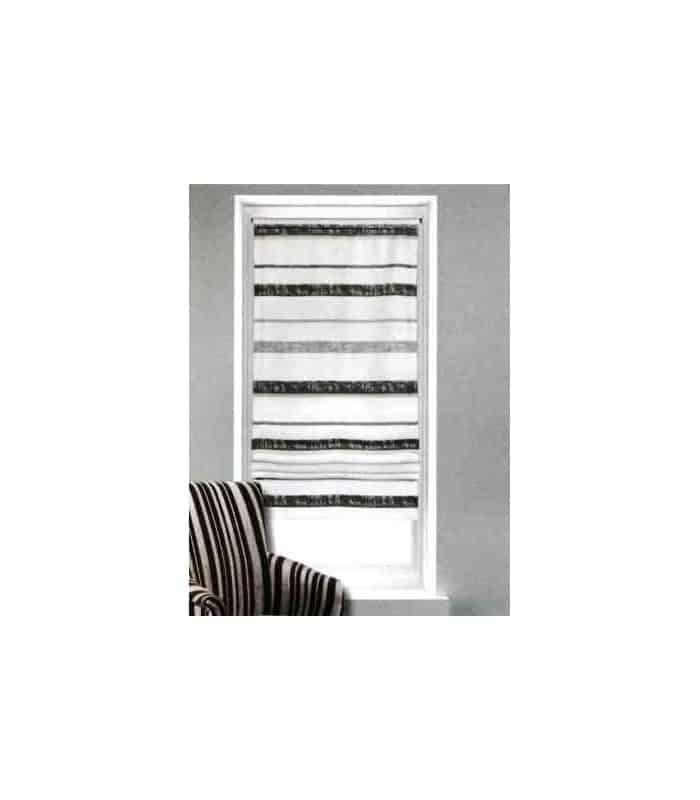 vitrage relevable avec rayures horrizontales. Black Bedroom Furniture Sets. Home Design Ideas
