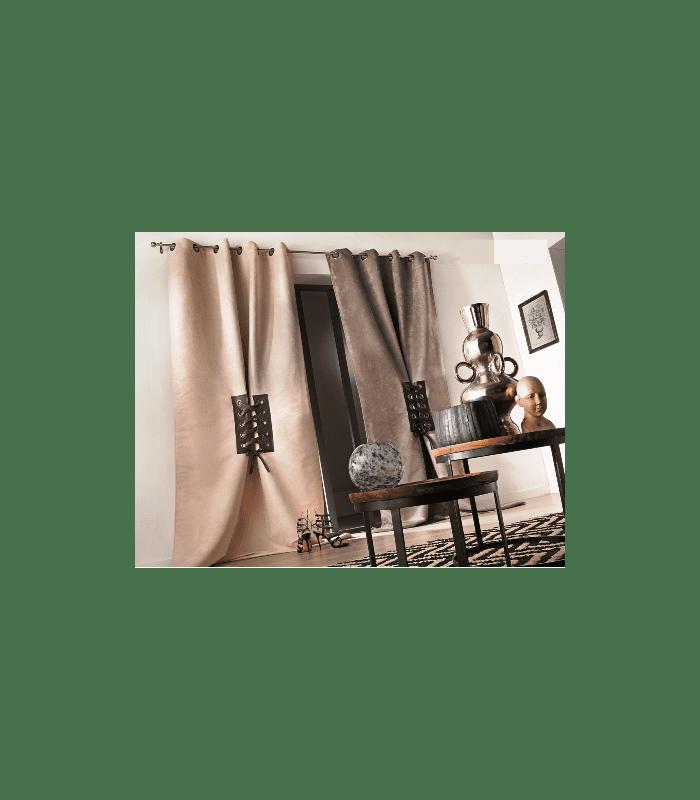 rideau ambiance contemporaine avec lacets entrelac s. Black Bedroom Furniture Sets. Home Design Ideas