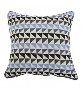 Coussin vintage motif triangle