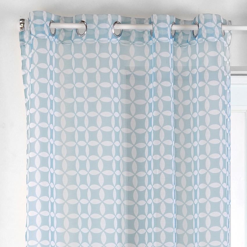 Voilage bleu marine elegant rideau marin rideau chambre - Rideau bleu roi ...