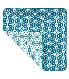 Housse de coussin carré avec motif graphique