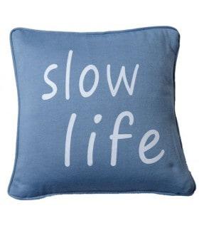 """Coussin imprimé """"slow life"""""""