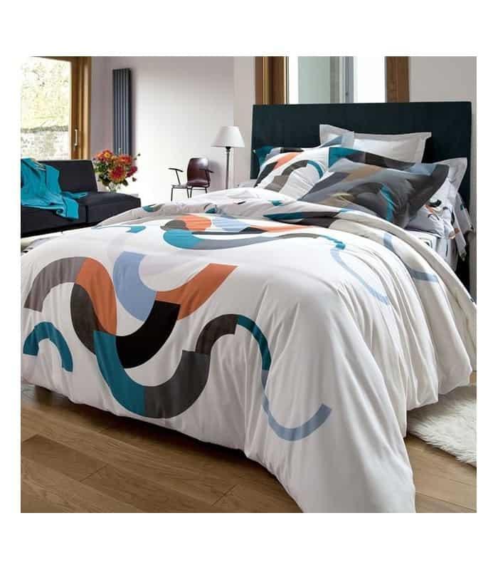 housse de oouette ambiance vintage en coton. Black Bedroom Furniture Sets. Home Design Ideas
