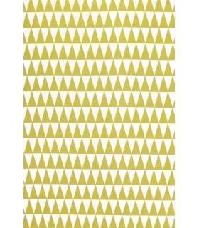 Tissu Jacquard vert motif triangle