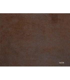 Tissu simili cuir vieilli chocolat