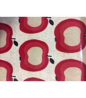 Tissu plastifié motif poids rouge