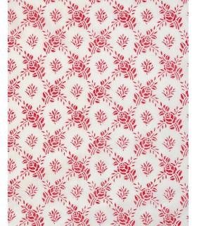 Tissu voile vintage motif rose