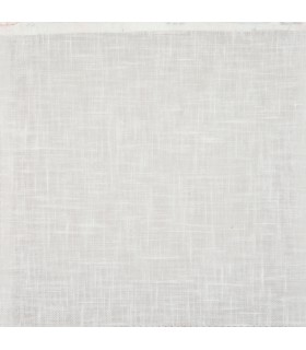 Tissu voile aspect lin blanc
