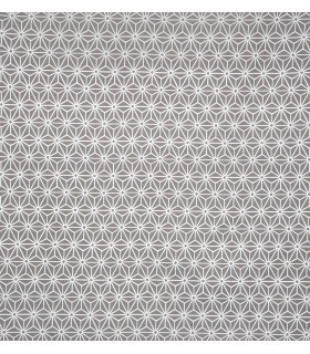 Tissu en toile géométrique gris