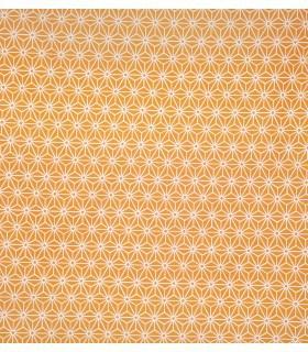 Tissu en toile géométrique jaune