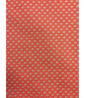 Tissu toile vintage orange motif losange