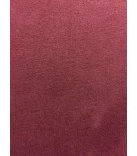 Tissu suèdine bordeaux