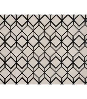 Tissu jacquard motif cube noir