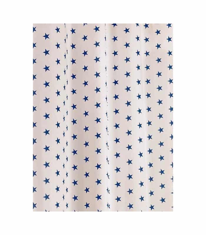 Tissu en toile motif étoile bleue