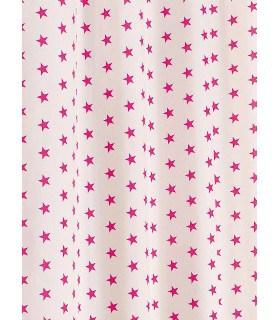 Tissu en toile motif étoile rose