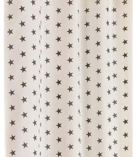 Tissu en toile motif étoile marron