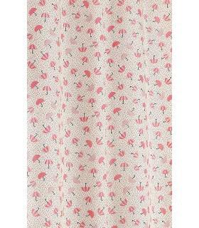 Tissu en toile motif ombrelle rose