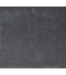 Tissu velours uni gris anthracite
