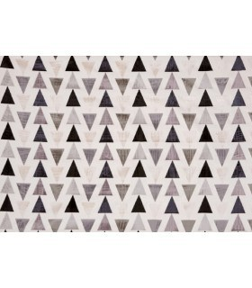 Tissu velours motif triangle gris anthracite