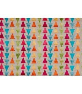 Tissu velours motif triangle