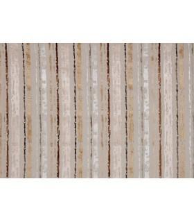 Tissu velours motif rayure marron
