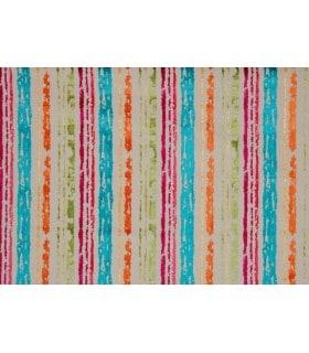 Tissu velours motif rayure