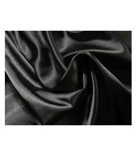 Tissu satin noir grande largeur