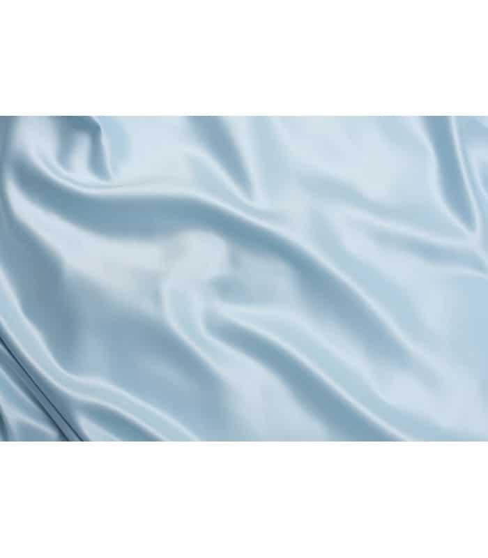 Tissu satin bleu ciel grande largeur