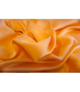 Tissu satin abricot grande largeur