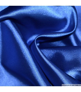 Tissu satin bleu électrique grande largeur