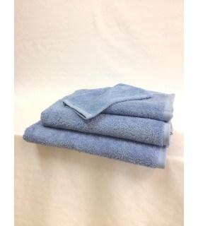 Serviette de toilette invité 30x50 cm couleur Bleu ciel