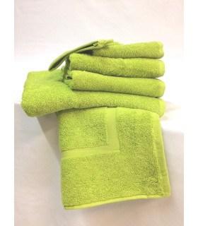 Serviette invitée 30x50 cm couleur vert anis