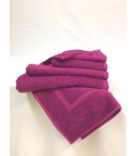 Serviette invitée 30x50 cm couleur prune
