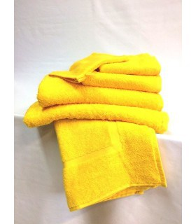 Serviette de toilette 50 x 100 cm couleur jaune moutarde