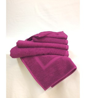Serviette de toilette 50 x 90 cm couleur prune