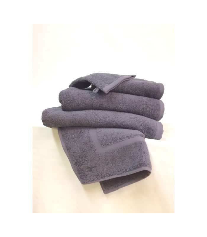 serviette de toilette 50 x 90 cm coloris gris anthracite. Black Bedroom Furniture Sets. Home Design Ideas