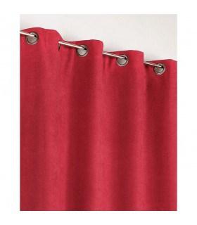 Rideau rouge Uni Phonique, Isolant, Thermique et Occultant