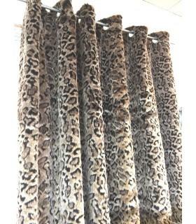 Rideau fourrure léopard
