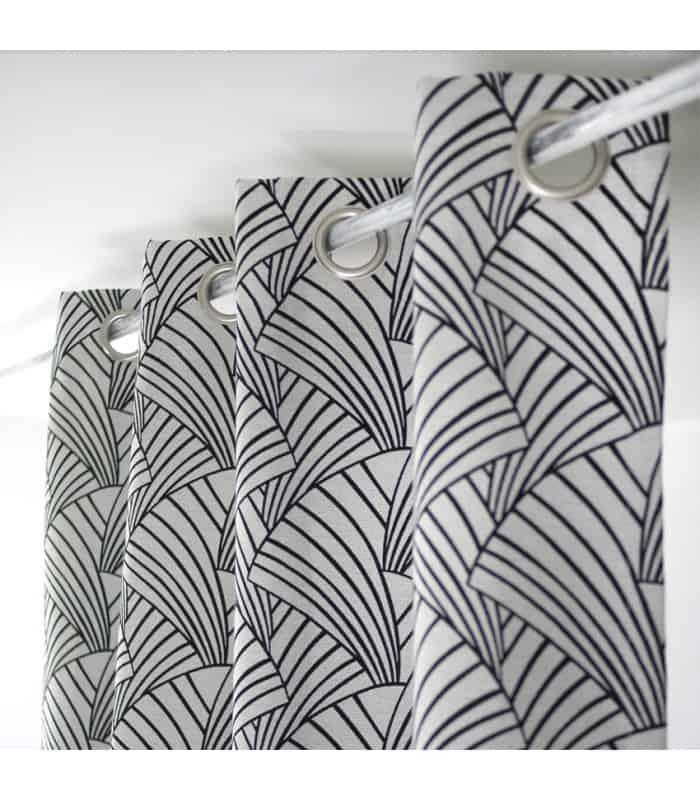 rideau ardeco noir. Black Bedroom Furniture Sets. Home Design Ideas