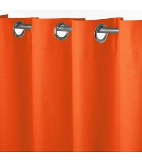 Rideau occultant uni orange
