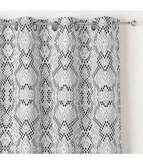 Rideau motifs losanges