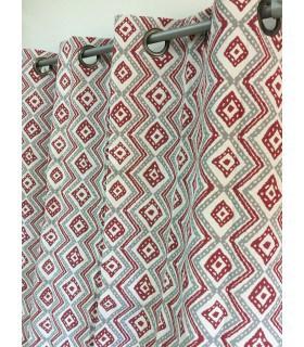 Rideau vintage motif géométrique