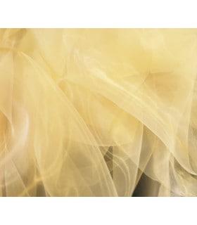Tissu Organza  jaune pale transparent