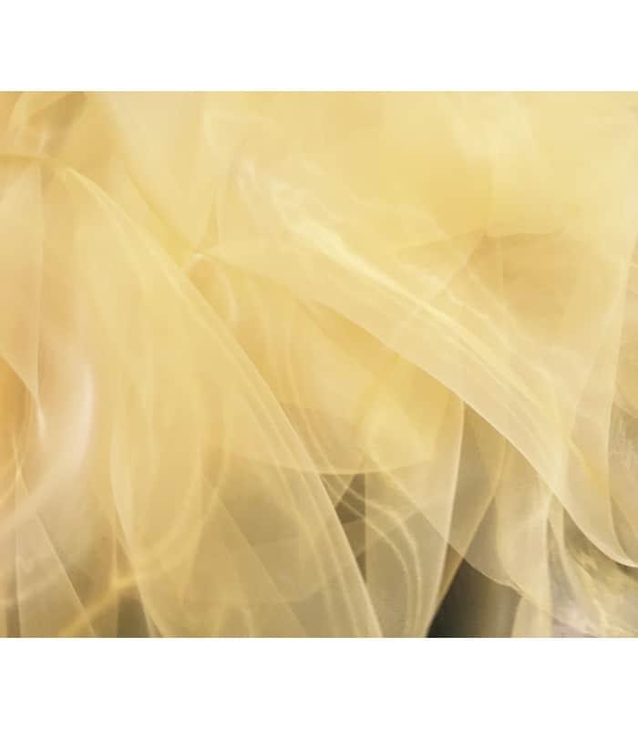 Tissu organza jaune clair