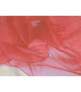 Tissu organza rose corail