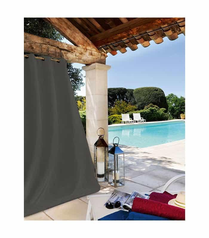 rideau ext rieur haute r sistance gris anthracite. Black Bedroom Furniture Sets. Home Design Ideas
