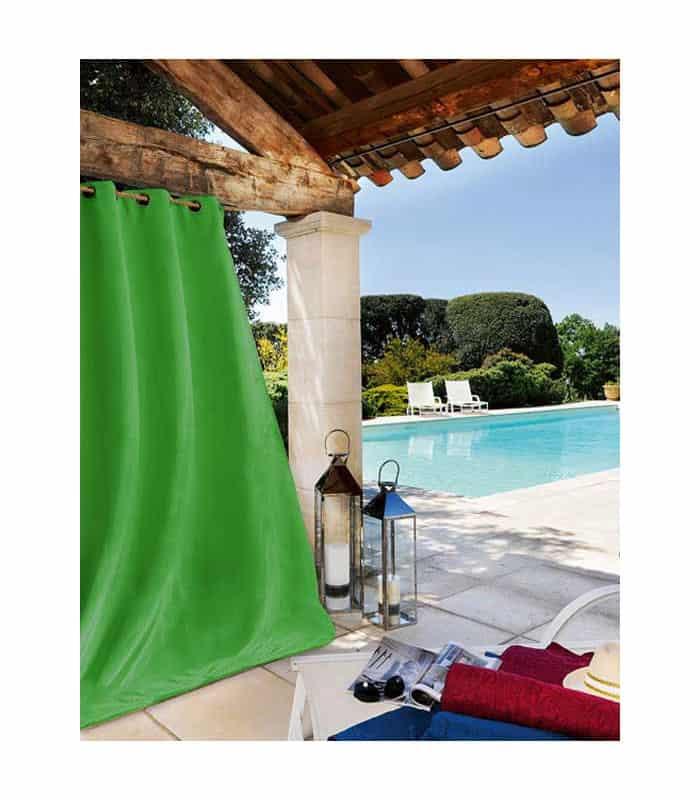 rideau ext rieur haute r sistance vert. Black Bedroom Furniture Sets. Home Design Ideas